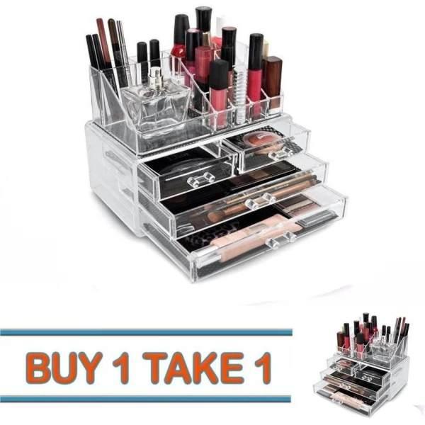 999 Buy 1 Take 1 Acrylic Jewelry Makeup Cosmetic Organizer Case