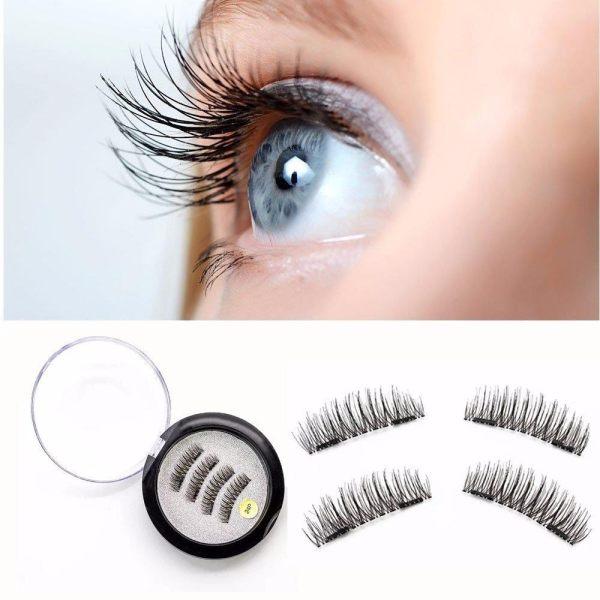 Magnetic False Eyelashes No Glue Premium Quality Dual Magnet False