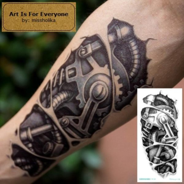 Mechanical2 - Art Is For Everyone! by:missholika Premium Quality 3D Temporary Tattoos QC-600 Philippines