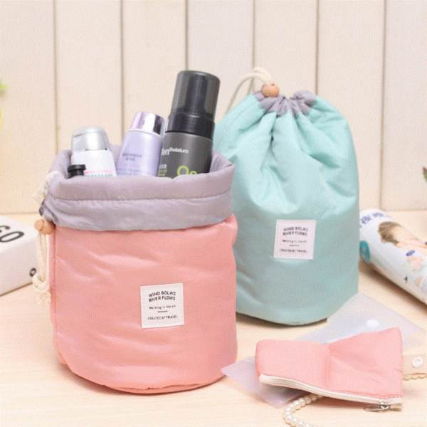 Pilot 1023 ( Set of 2 )Beauty Travel Cosmetic Bag Girl Fashion Multifunction Make up Makeup Pouch Toiletry Case (Pink/Light Green) Philippines