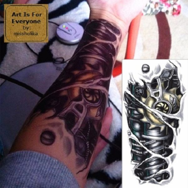 Robot Machine - Art Is For Everyone! by:missholika Premium Quality 3D Temporary Tattoos QC-601 Philippines