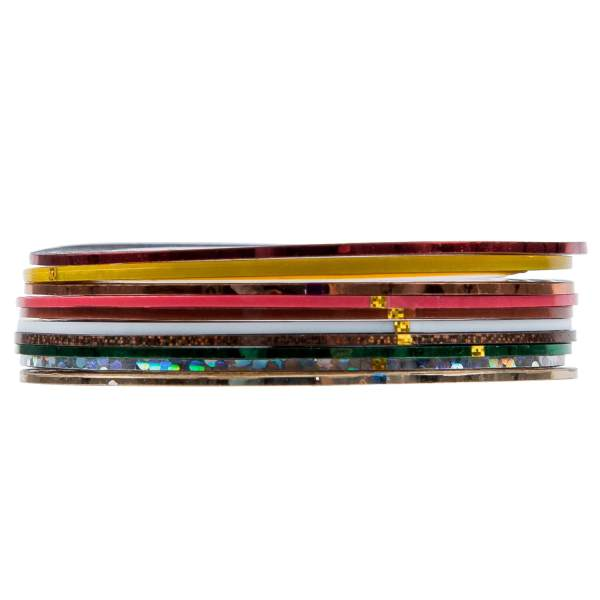 SET of 10 Nail Tape Stripe Decoration Sticker Hologram - Intl Philippines