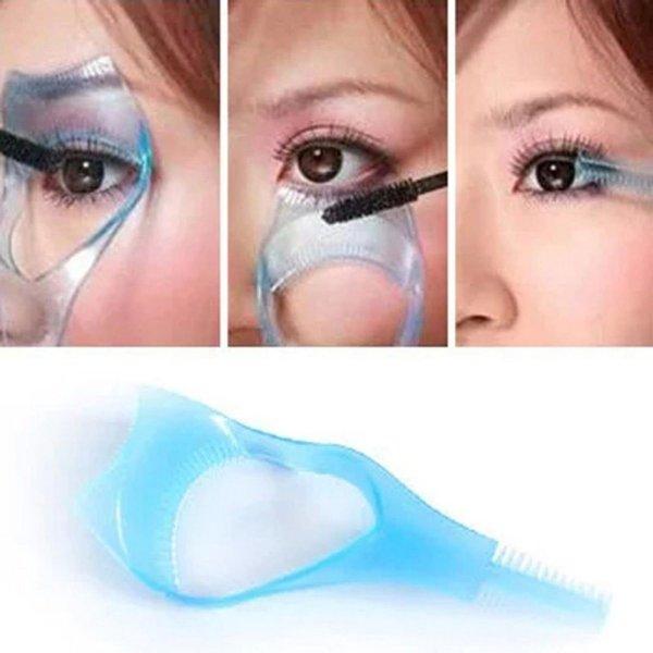 Women Lady Practical Makeup Eye 3 In 1 Mascara Eyelash Applicator