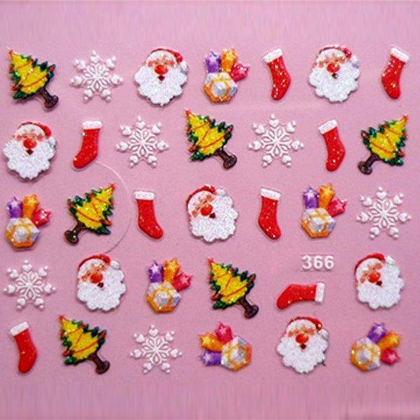 Womens DIY Nail Art Stickers Decal Christmas Santa Claus Snowflakes ...
