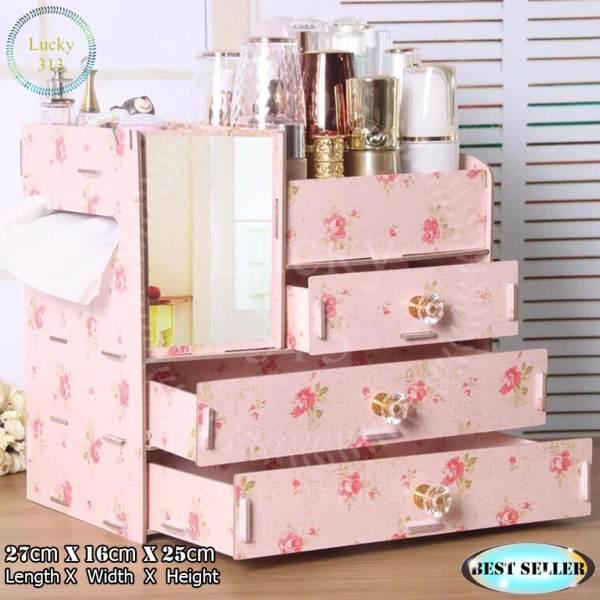 Wooden Cosmetic Make Up Jewelry Box Storage Organizer Large Size