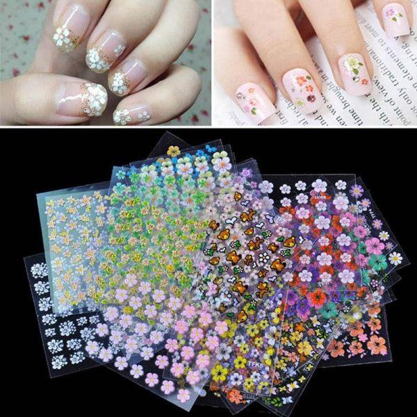 Ybc 30 Pcs Floral Design Manicure Transfer Nail Art Tips Stickers