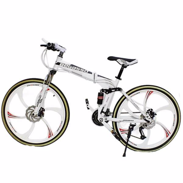Begasso Soldier Full Suspenion 24 Speeds Folding Mountain Bike with ...