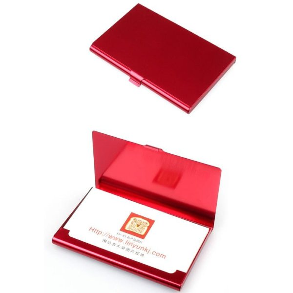 Creative Aluminum Holder Metal Box Cover Credit Business Card Wallet RD - intl Philippines