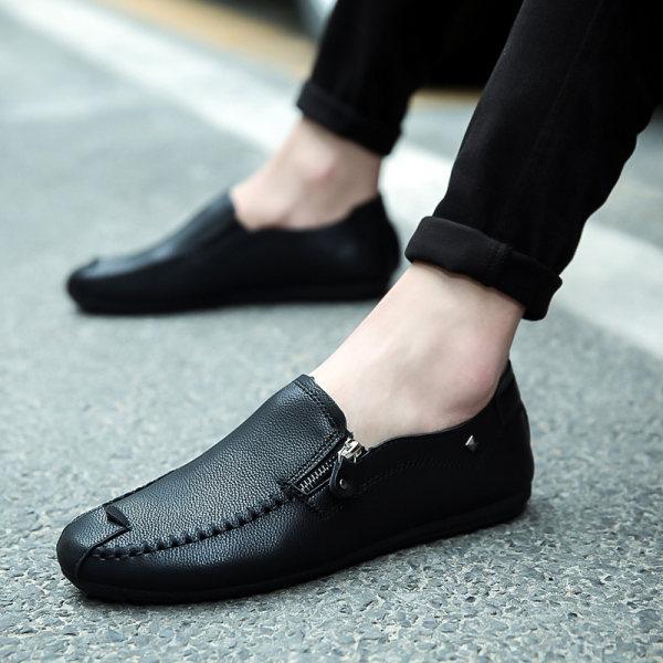 Mens Korean-style Moccasin Gommino Shoes (K01 black (shoes models)) (K01 black (shoes models)) Philippines