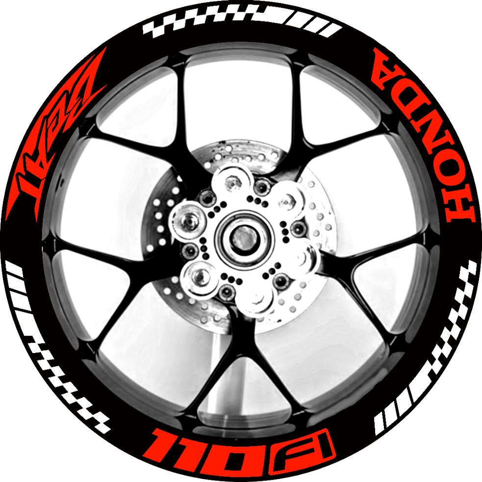 Sticker only honda beat fi mags rim decal sticker pair wheels