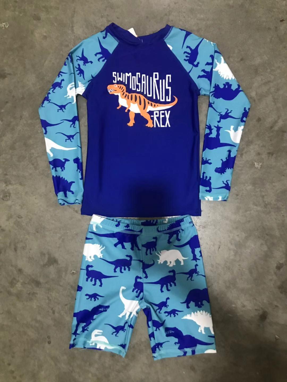 d3440f2873 KYB015#1-12Yrs Anak-anak Little Boy Swimsuit Rashguard Summer Two Piece  Kids Swimwear (Cycling shorts + Tops)-Intl