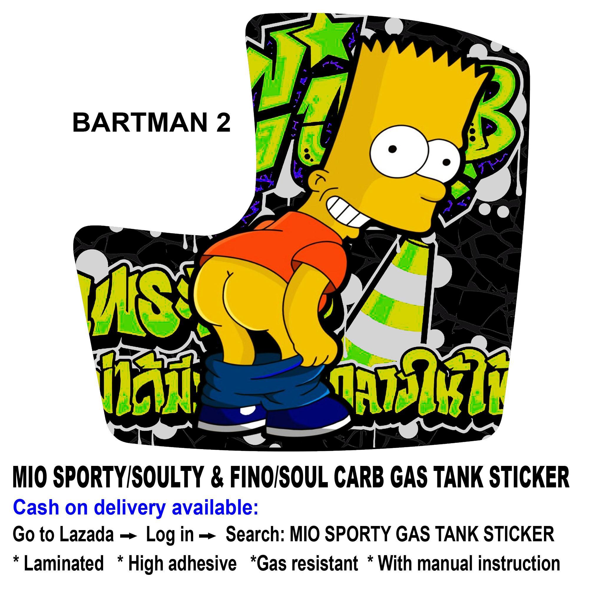 Mio sporty gas tank sticker bartman 2
