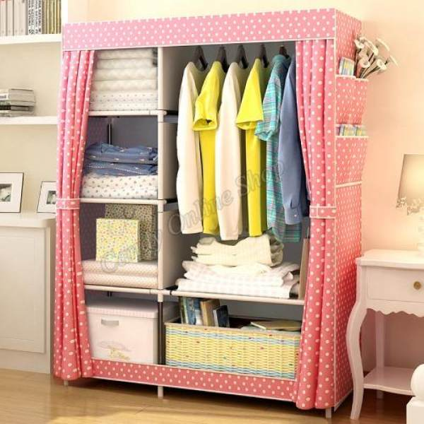 Fashion Multifunction Cloth Wardrobe Storage Cabinets C-77105 (Pink) Philippines : cloth wardrobe storage  - Aquiesqueretaro.Com
