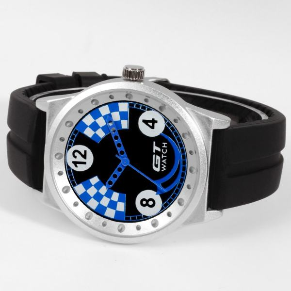 GT WATCH Brand Motorcycle Collection Auto Racer Sport Black Silicone Strap Stainless Steel Case Japan Analog Movement Wristwatch ...