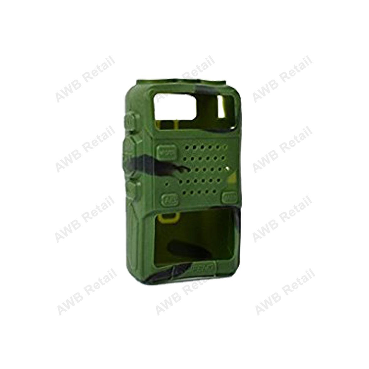 Soft Handheld Rubber Silicon Case for Baofeng UV-5R and UV-5RE Walkie Talkie Two Way Radio (Camouflage)