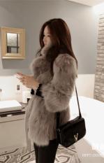Áo khoác nữ lông dày cao cấp thích hợp cho mùa Đông kiểu Hàn Quốc