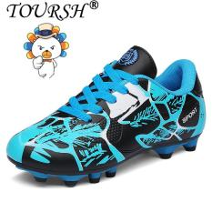TOURSH Men Boy Kids Soccer Cleats Turf Football Soccer Shoes TF Hard Court Sneakers Trainers Football Boots – intl
