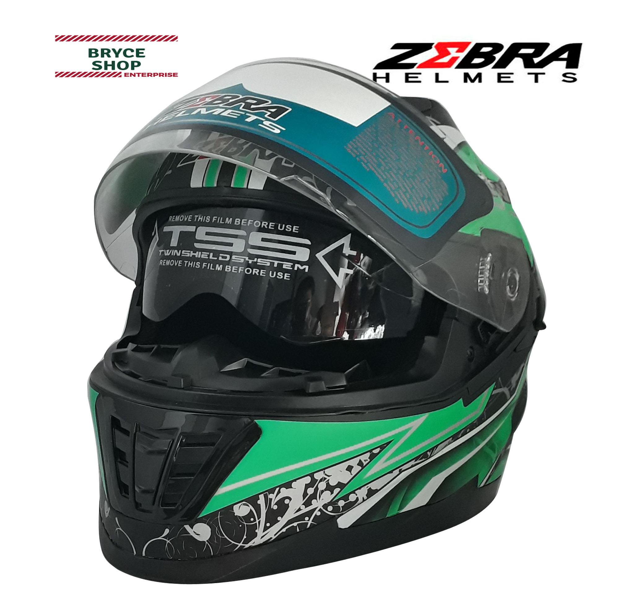 506f0a51 Product details of Zebra Dual Visor Full Face Helmet (Various Designs -  Matte)