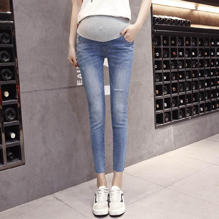 33351946cf6e9 Product details of Pregnant Women Pants Summer Wear 2018 New Style Spring  Clothing Elasticity Abdominal Support Capri Pants Slimming Skinny Pants  Maternity ...