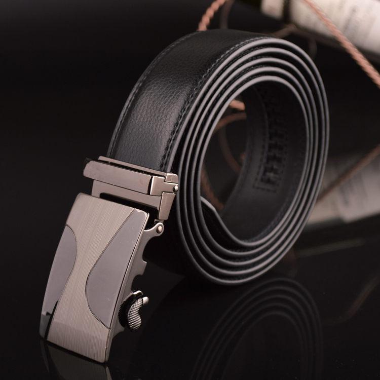 9002c65ec 140cm -160cm Plus Big Size Belt Classic Brand Design Men s Automatic Buckle  Genuine Leather Belts Cinto Masculino
