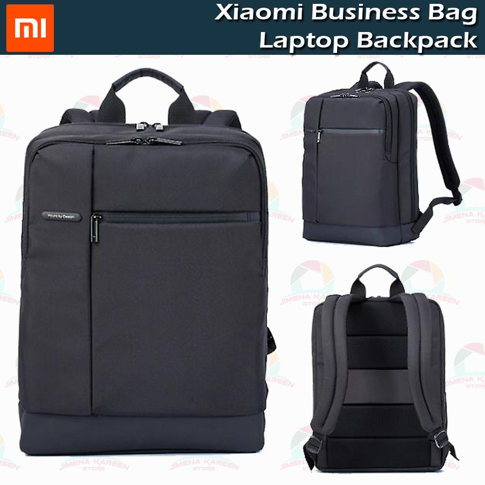 Authentic Xiaomi Classic Business Mi Backpack Bag Large Capacity Students Business Bags Suitable for 15inch Laptop (Black)