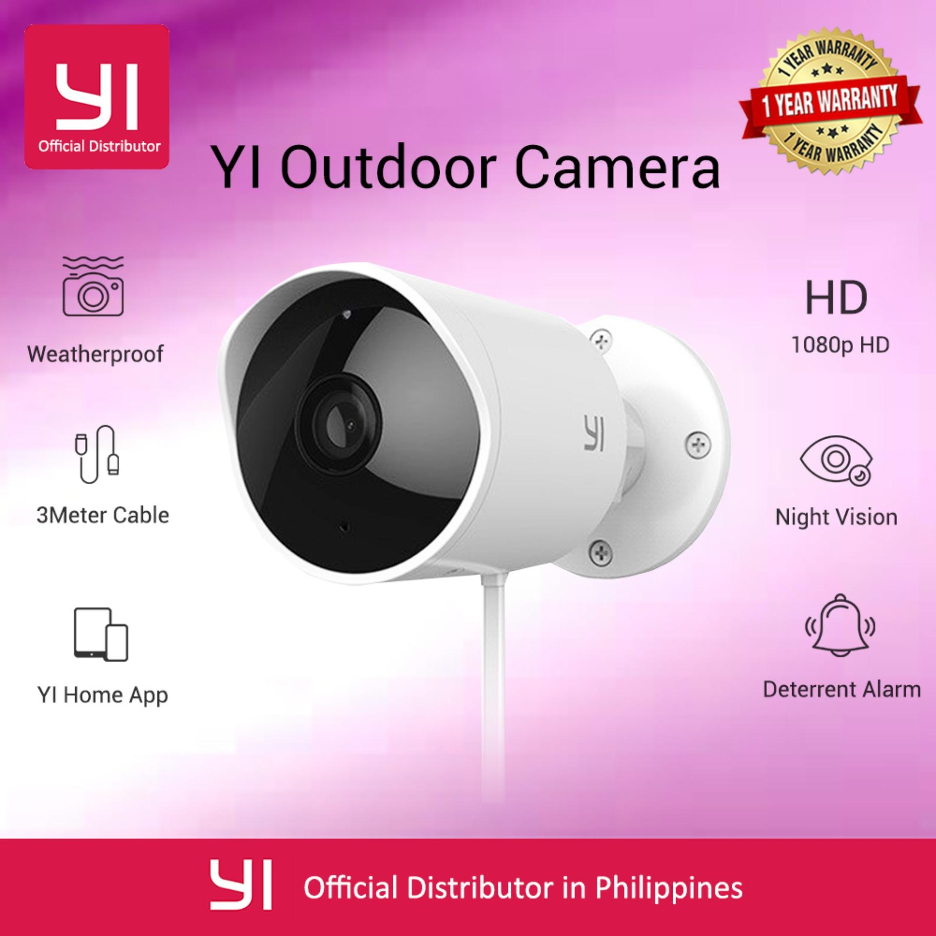 YI Outdoor Security Camera Weatherproof Cloud Cam Wireless IP 1080p resolution Waterproof Night Vision Security Surveillance System International Version