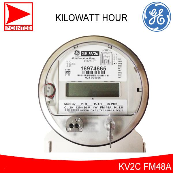 General Electric 2 5A, 120-480V, Electric Kilowatt Hour Meter