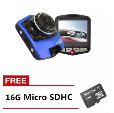 New M001 Full High-Definition Car Blackbox DVR (Blue) with Free Micro SD 16GB