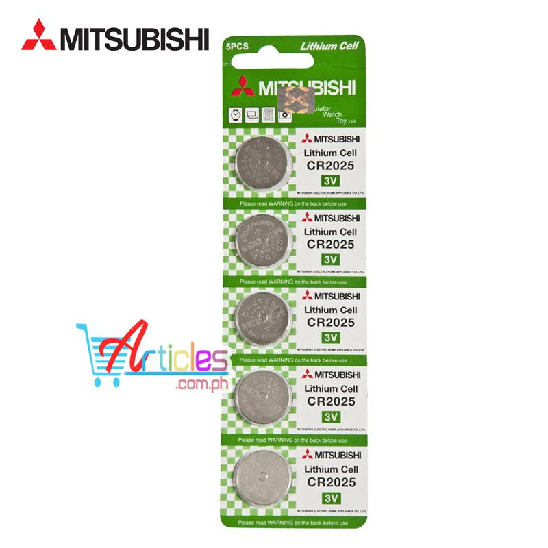 Mitsubishi CR2025 Lithium Cell Button Battery 5 Pieces