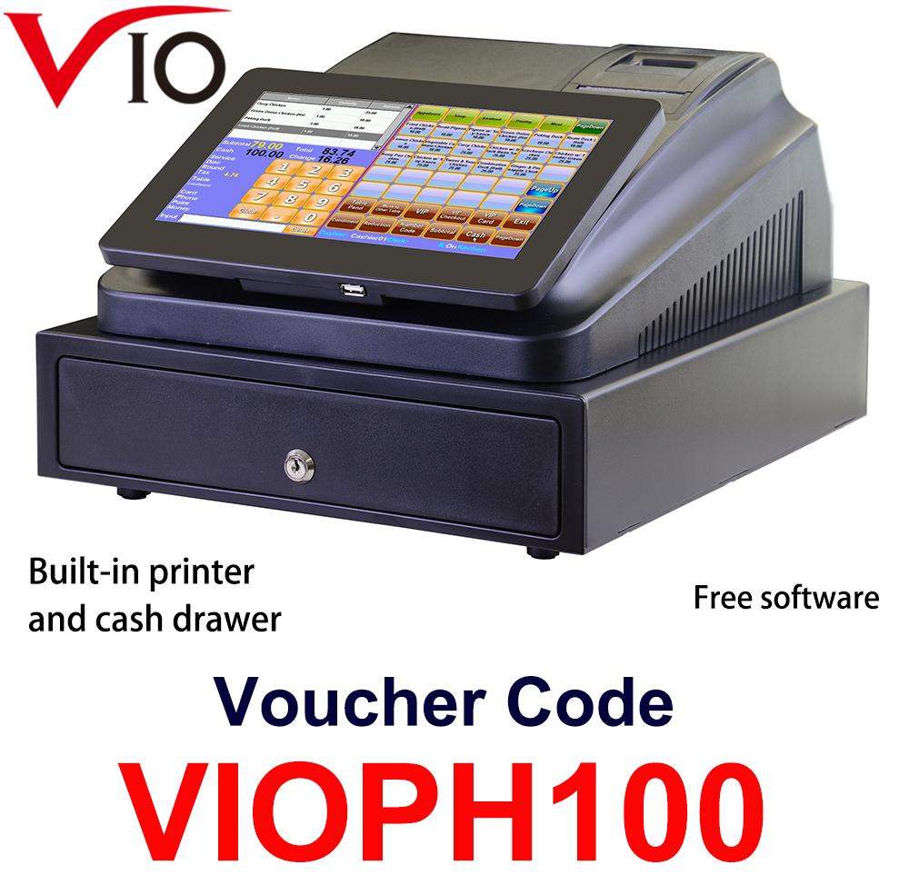 Vio 10.1 Inch Touch Pos System With FREE SOFTWARE Cash Register Machine Built In Printer and Cash Drawer - intl