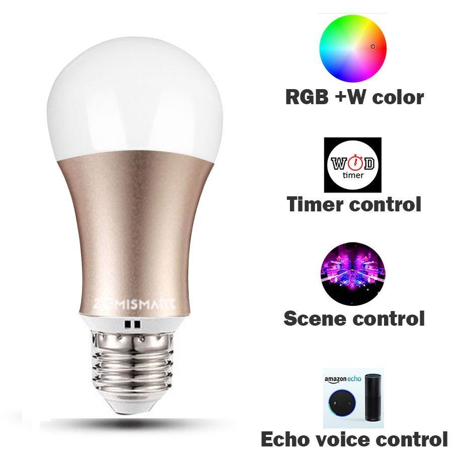 6W Alexa and Echo E27 WIFI RGB Smart Light bulb / Timer2 4G 10A US Power  plug /EU wifi switch Remote Control by app directly in Phone Support IOS/
