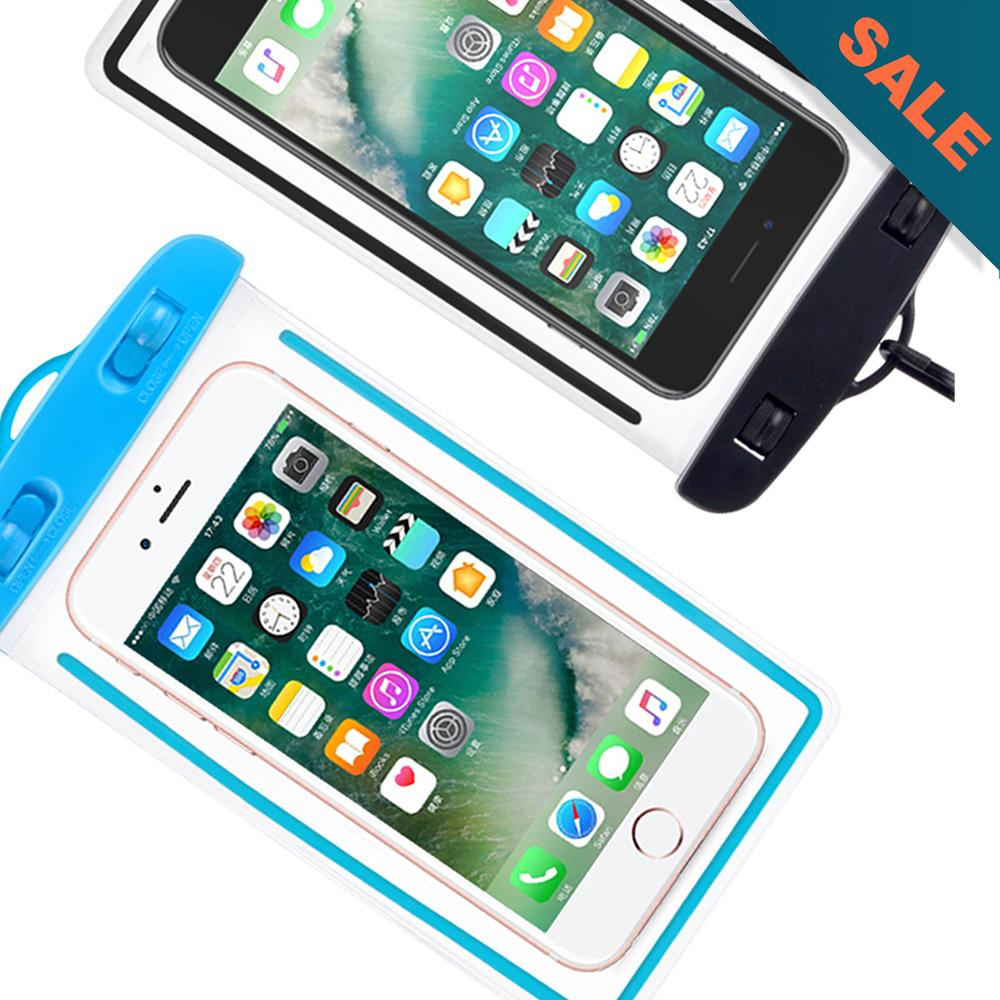 pretty nice aa8bd a1966 Waterproof Underwater Case Dry Pouch for Mobile Android Smartphone and  iPhone 6 Plus, Samsung Phone and Apple Glow in the Dark