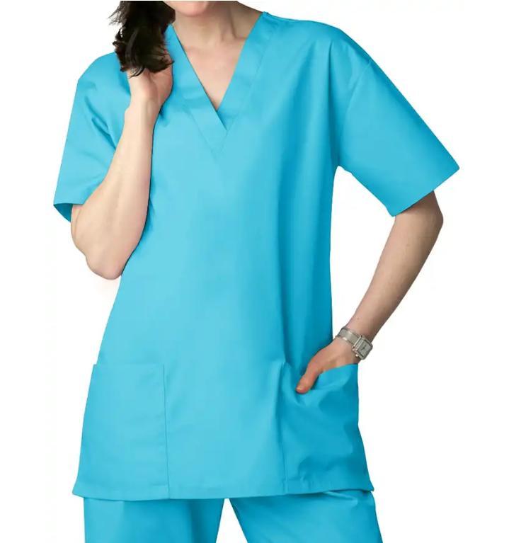 49792c3bb86 Unisex Basic Plain Cotton Scrub Suit with Plain Pants (Medium)   Lazada PH