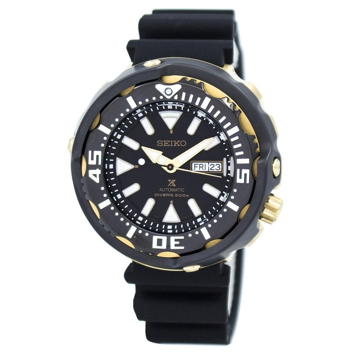 Seiko Prospex Automatic Diver's Black Stainless-Steel Case Silicone Strap Mens SRPA82K1