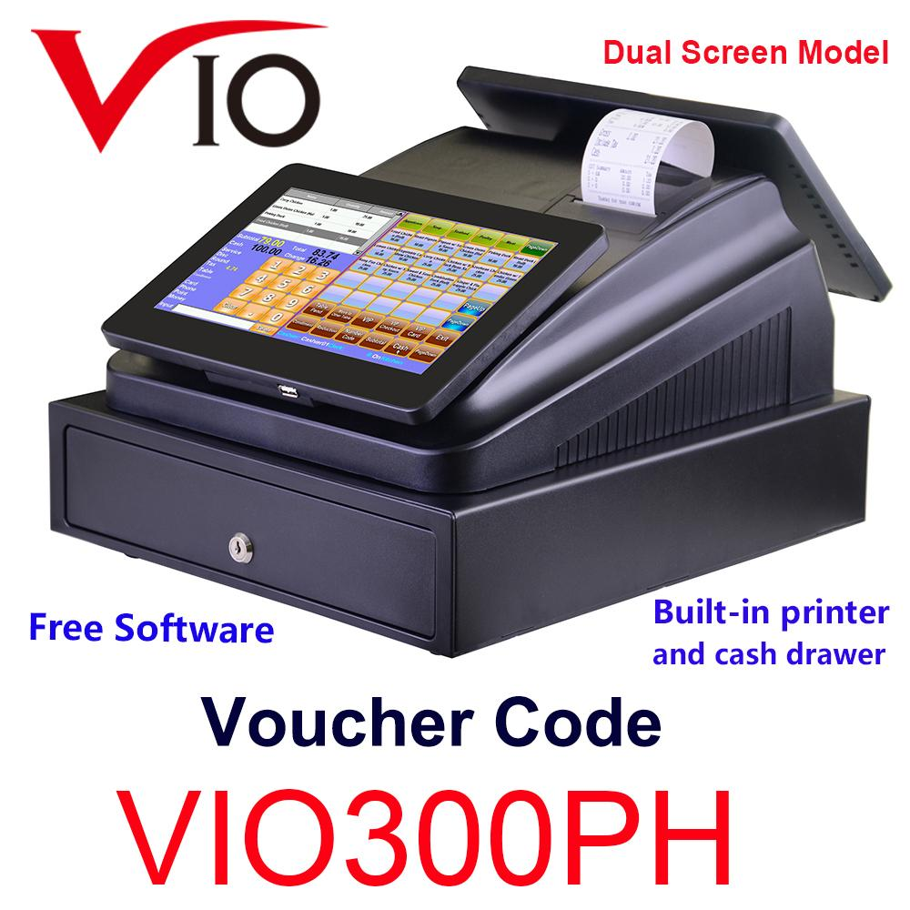 Vio 10 1 Inch Touch Pos System With FREE SOFTWARE Cash Register Machine  Built In Printer and Cash Drawer - intl
