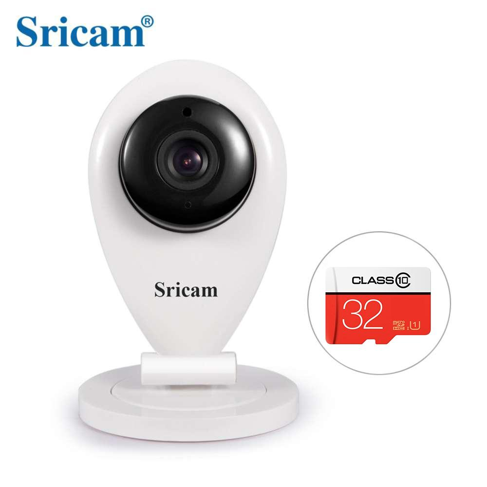 Bundle of Sricam SP009 Wifi CCTV1280x720 Indoor Security Camera (White) and 32Gb micro SD Card
