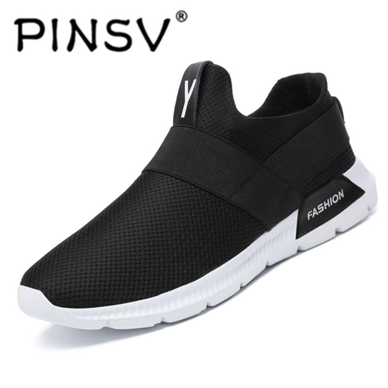 Spesifikasi dari PINSV Jala Bernapas Fashion Pria Sepatu Kets (Abu-abu Muda).