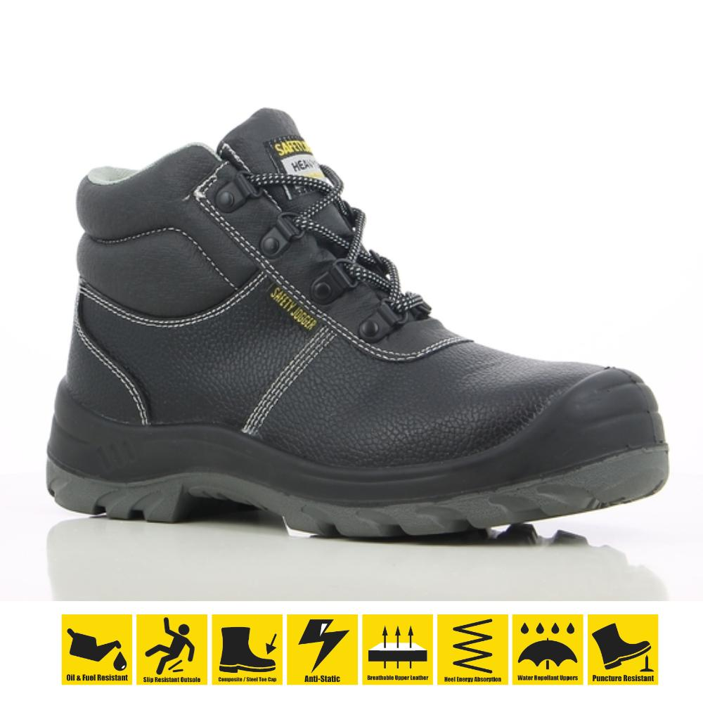4e91999794be Safety Jogger Bestboy S3 High Cut Safety Shoes Steel Toe Oil Resistant  Anti-Slip