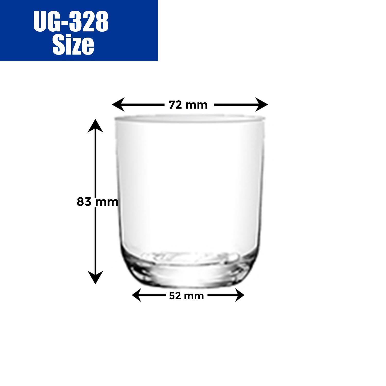 Union Glass Tumbler 8oz Set of 12 (White) with FREE Thermal Bag - thumbnail 5