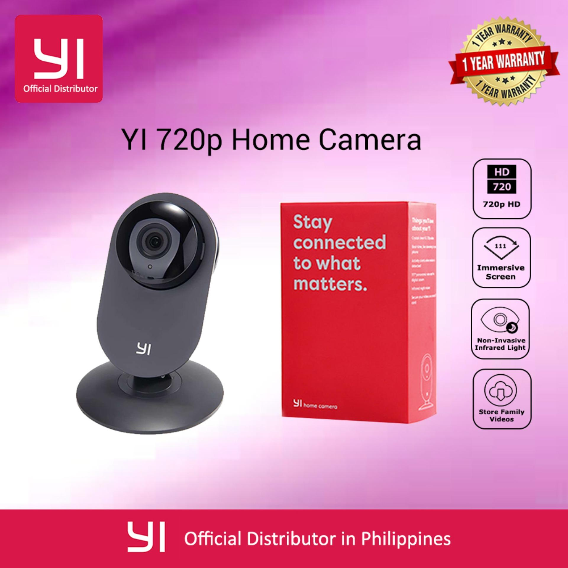YI Home IP Cam Security Camera CCTV Monitor 720P HD Video Monitor IP Wireless Network Surveillance Security Night Vision Alert Motion Detection EU/US Version
