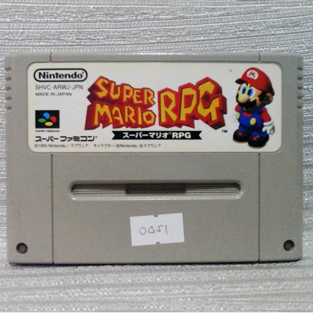 Super Mario RPG Nintendo Super Famicom SFC SNES Video Game Cart Japan