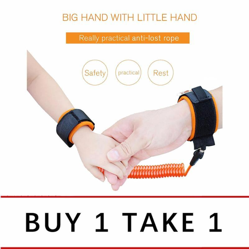 【Buy 1 Free 1】Anti-lost Child Wrist Leash Strap Safety Harness Link for Babies, Toddlers, & Kids, 1.5m image on snachetto.com