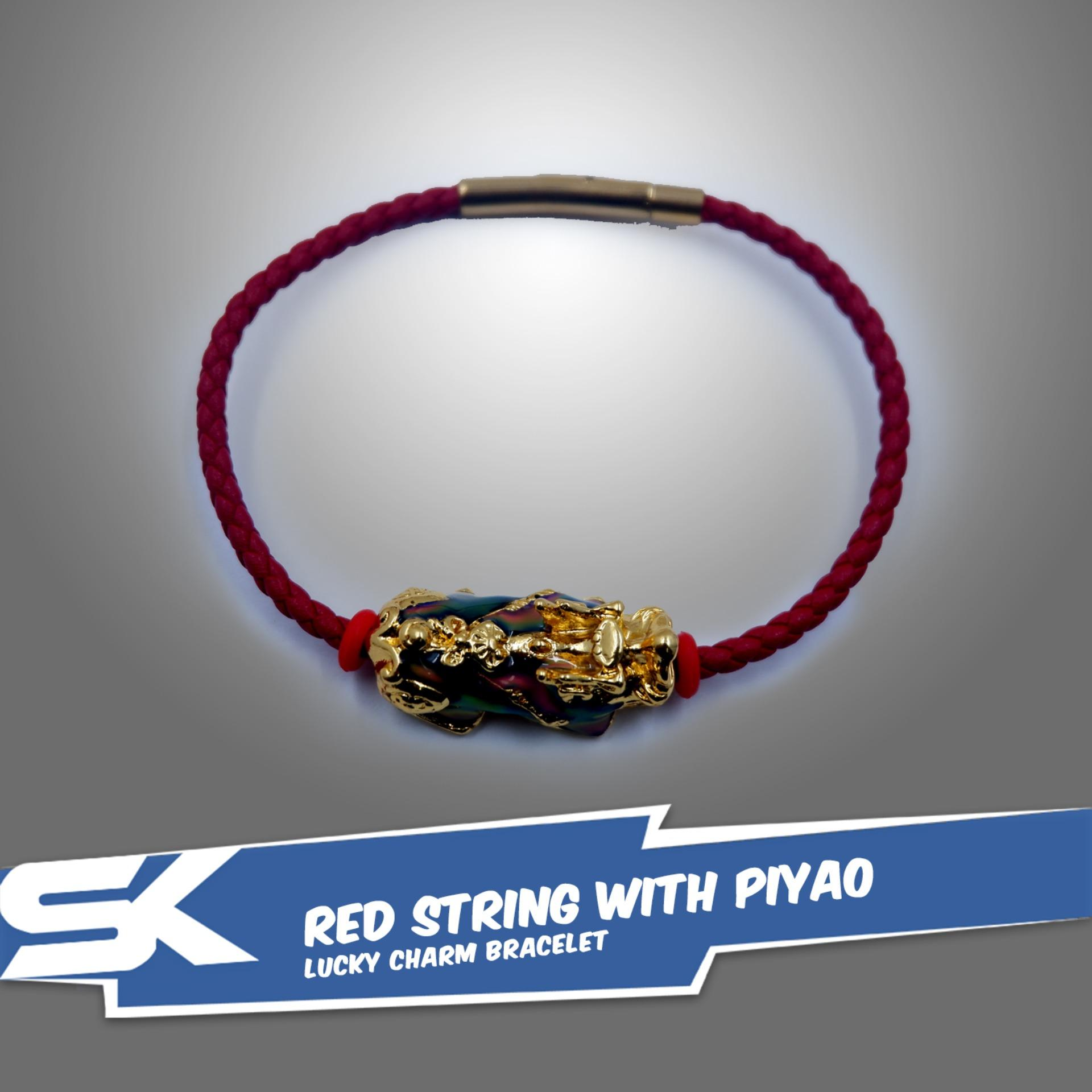 Red String with Piyao Lucky Charm Bracelet image