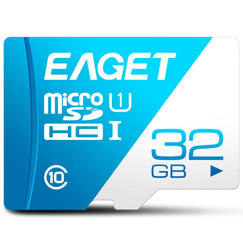 EAGET Memory Card 32GB T1 Micro SD Card Class 10 High Speed UHS-I Flash TF Micro SDHC SDXC