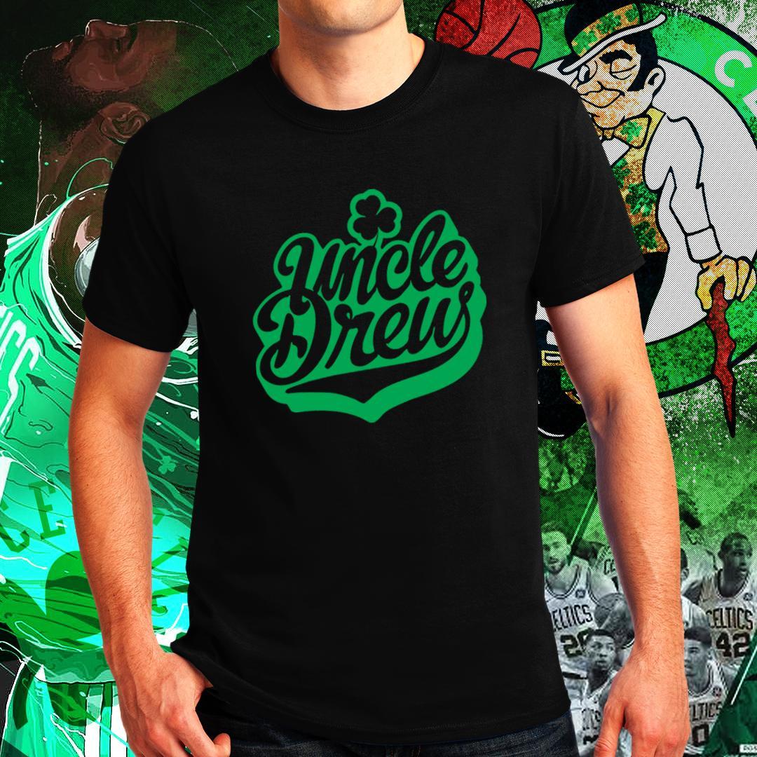 buy popular 6590e 4eca2 Boston Celtics Kyrie Irving Uncle Drew NBA Basketball Sports Team Tshirt  for Men