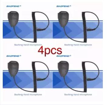 4pcs Baofeng Universal Handheld Speaker-mic for Dual Band Radio