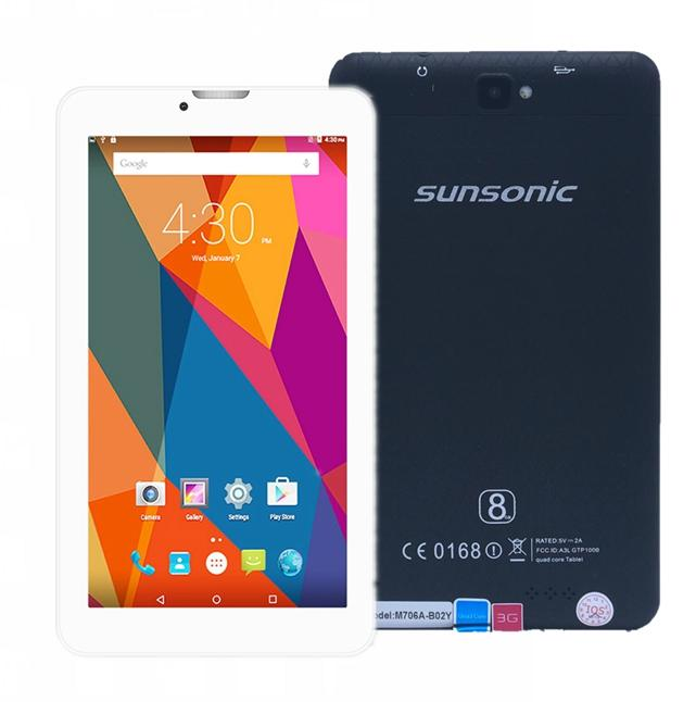 "Sunsonic B02Y 7"" 3G Quadcore Dual Sim Cellular Tablet 8GB"