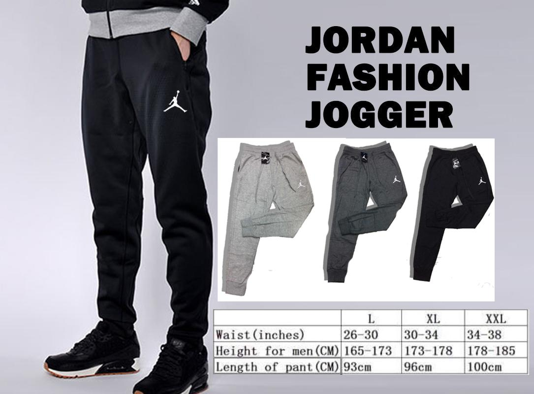 b27c8a0ad96 Product details of fashion jogger pants unisex men women 2 pockets jordan