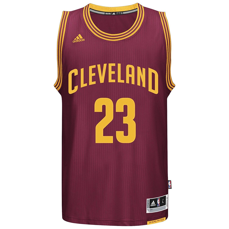 Offical Men's NBA Cleveland Cavaliers Black Basketball Jersey LeBron James  #23