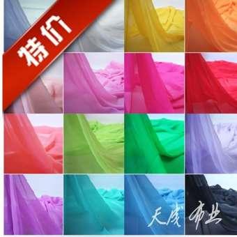 1.5 เมตรกว้างชีฟองเส้นด้ายผ้าเนื้อผ้าผ้ายอร์เกตย่นเนื้อผ้าซีฟองผ้าสีเดียวผ้าซับในชุดกระโปรง